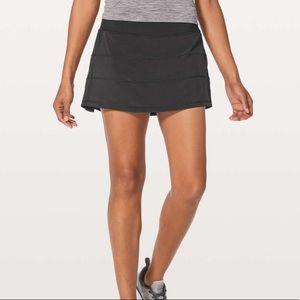"""Lululemon Pace Rival Skirt 13"""" Black Skort"""